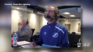 Lightning radio broadcaster calls Stanley Cup games from a distance