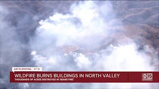 Fire crews battling 5,200-acre 'Sears Fire' burning north of Cave Creek