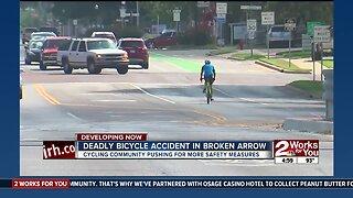 Deadly bicycle accident in Broken Arrow