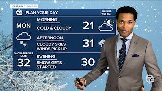 Storm brings snow to Detroit