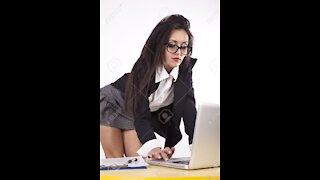 Beautiful hard working business women must watch👩