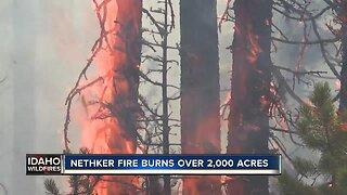Nethker Fire burns more than 2,000 acres