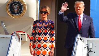 President Donald Trump With First Lady Melania Trump Arrives in Florida