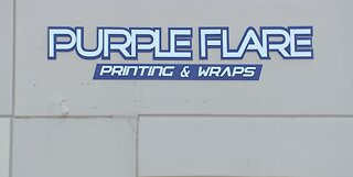 WE'RE OPEN: Purple Flare Printing & Wraps