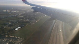 Moments before landing with Air Arabia