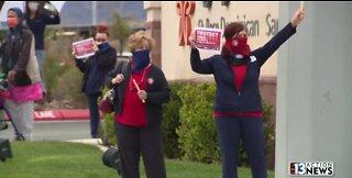 Las Vegas nurses address PPE shortage