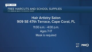 Free haircuts and school supplies