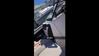 Epic fail: Girl crashes her dad's boat