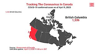 COVID 19 Confirmed Cases In Canada As Of April 9