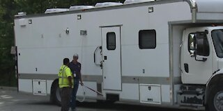 Mobile lab arrives as 500 homes are evacuated following fuel spill