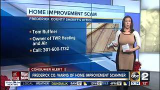 Home improvement scam warning in Frederick County