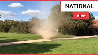 Dust tornado spins through National Trust property