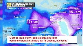 Une surprenante tempête de neige et de pluie va frapper le Québec cette semaine