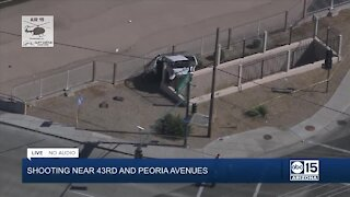 Driver hurt in shooting, crash near 43rd and Peoria avenues