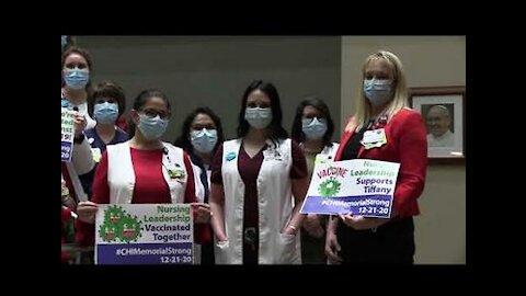 Tiffany Dover with nursing leadership - Video vom 21.12.2020 - CHI Memorial