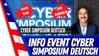 Heute um 15:00 Cyber Symposium LIVE