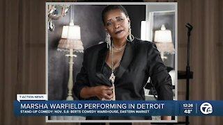 Comedian Marsha Ward performing at Eastern Market this weekend