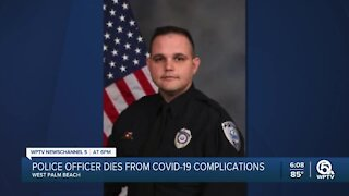 West Palm Beach police officer dies after experiencing COVID-19 complications