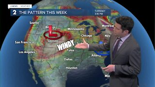 Stronger winds Tuesday