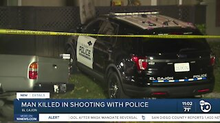 Man killed in shooting with El Cajon police