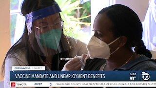 Vaccine mandate and unemployment benefits