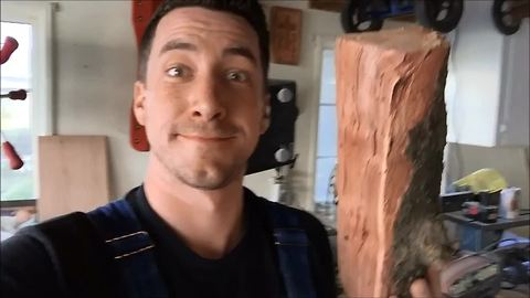 Husband gives wife piece of firewood for Christmas, but it's not what you think!