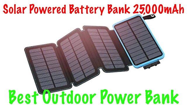 Hiluckey 25000mAh Portable Solar Power Bank Review