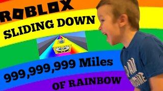 Roblox- Sliding Down Miles of Rainbow!