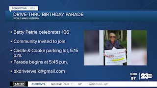 Help celebrate Kern County World War II veteran Betty Petrie's 106th birthday