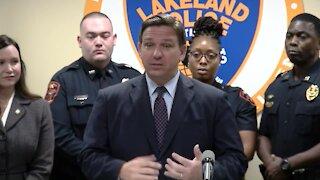Florida Gov. Ron DeSantis announces signing bonuses for law enforcement officers
