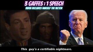 Joe Biden Gaffes 3 Times During His 'Victory' Speech
