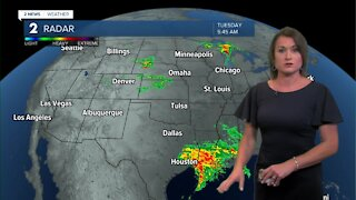 Tracking a Cold Front Moving South