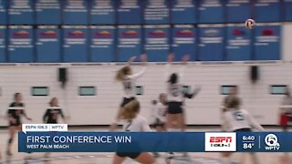 Keiser volleyball secures first conference win of season