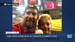 Valley father hits home run at Chase Field to win free season tickets