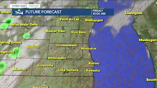 Warmer temperatures with chance for later showers Friday