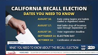 What you need to know about the recall election
