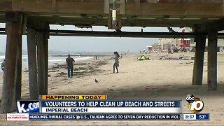 Volunteers help clean up Imperial Beach shores, streets