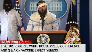 Doctor Held Hostage at Covid Vax Press Conference | PARODY