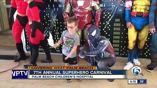 7th annual superhero carnival held at Palm Beach Children's Hospital