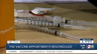 THD vaccine appointments rescheduled