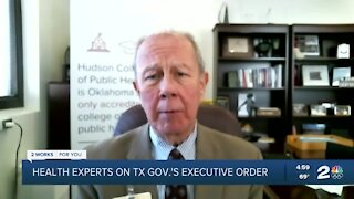 Oklahoma health experts weigh in on Texas Gov. Abbott's executive order