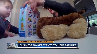 Small business owner adopts the families of two government workers
