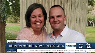 San Diego man reunited with birth mom after 31 years