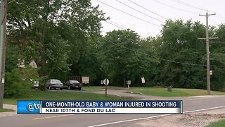 One-month-old baby and woman injured in shooting