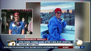 UCSD ER nurse coming home after spending 6 weeks in New York