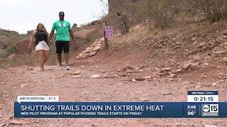 New pilot program at some Phoenix trails starts Friday