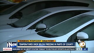 Cold temperatures hit San Diego County