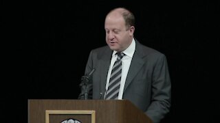 Gov. Polis speaks at Officer Talley memorial service