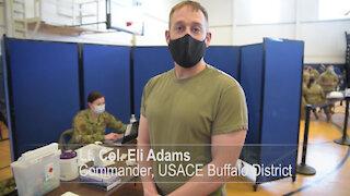 Buffalo District COMMANDER receives COVID VACCINE!