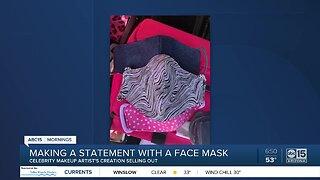 Scottsdale makeup artist makes fashionable face masks